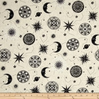 Star Gazing Metallic Moons And Stars Parchment/Silver