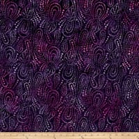 Wilmington Batiks Paisley Dots Purple/Pink