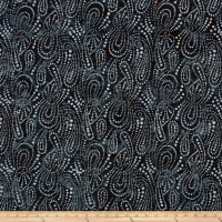 Wilmington Batiks Paisley Dots Black