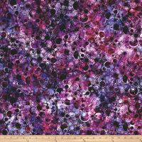 Wilmington Batiks Bubbles Allover Purple/Pink