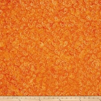 Wilmington Batiks Mini Paisley Orange/Gold