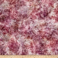 Wilmington Batiks Stacked Floral Mauve