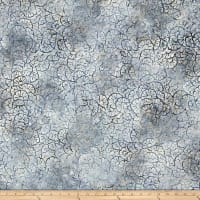 Wilmington Batiks Stacked Floral Light Gray