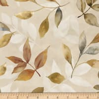Neutral Nature Leaves Allover Tan
