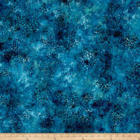 "Essentials 108"" Wide Back Mosaic Dark Blue/Green"