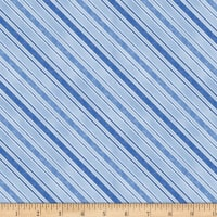 Sew Curious Diagonal Stripe Blue