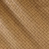 Faux Leather Tile Basketweave Toast