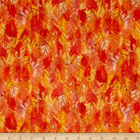 Fall Feast Pine Needles Dark Orange