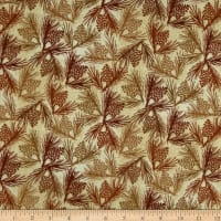 Wilderness Flannel Pine Cones Light Olive