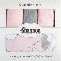 Shannon Lullaby Minky Cuddle Blanket Kit Lucky Star Blush
