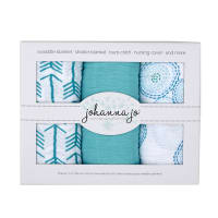 Shannon Embrace Double Gauze Swaddle 3 Pack Bubbles