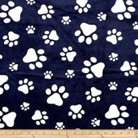 Shannon Minky Cuddle Paws Navy/Snow