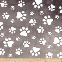 Shannon Studio Minky Cuddle Paws Graphite/Snow