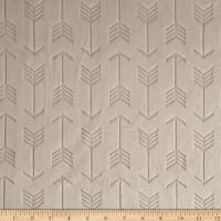 Shannon Minky Cuddle Embossed Arrow Beige