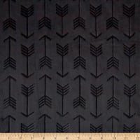 Shannon Minky Cuddle Embossed Arrow Black