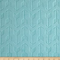 Shannon Minky Cuddle Embossed Arrow Saltwater