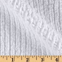 Shannon Minky Luxe Cuddle Chenille Snow White