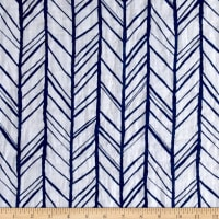 Shannon Embrace Double Gauze Herringbone Royal