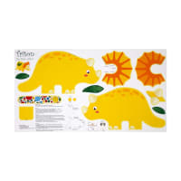 Jungle Club Triton The Dino 24 In. Pillow Panel Multi
