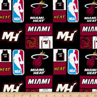 NBA Cotton Broadcloth Miami Heat Multi