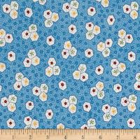 "Aunt Grace 59"" Quilt Back Shapes Blue"