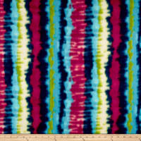 Fleece Tie Dye Stripe Bright