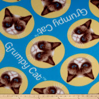 Grumpy Cat Fleece Tossed Cat Blue
