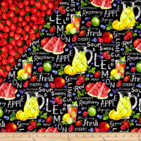 Farmer John's Garden Party Double Sided Quilted   Fruits
