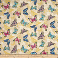 Flights Of Fancy Butterfly Beige Metallic