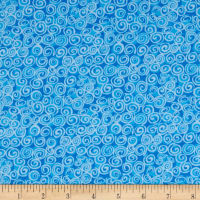 Flannel Swirls Blue