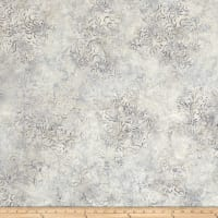 Wilmington Batiks Flourish Ivory/Gray