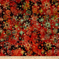 Timeless Treasures Tonga Batik Copper Watermark Poppy