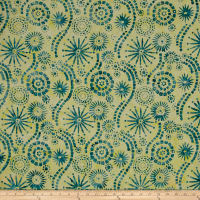 Timeless Treasures Tonga Batik Peacock Ferris Wheel Frolic