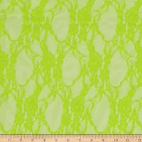 Stretch Summer Floral Lace Neon Green