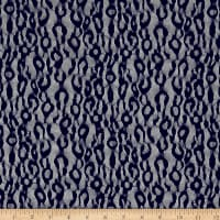 Stretch Leopard Lace Navy