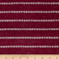 Lightweight Sweater Knit Gray Pointelle on Garnet