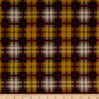 Crepe de Chine Checkered Mustard / Brown