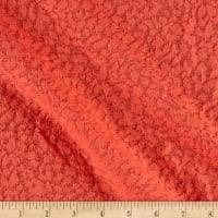 Double Knit Jacquard Animal Print Peach on Peach