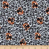 Cotton Spandex Jersey Knit Matilda Binx Halloween Grey Multi