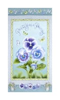"Pretty As A Pansy 23"" Panel Light Blue/Purple"