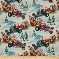 Alexander Henry Christmas Time Hot Rod Holiday Brite