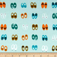 Cloud 9 Organics Sidewalk Interlock Knit Fancy Steps Shoes Turquoise