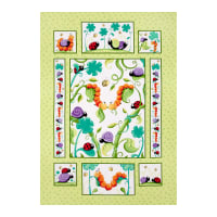 Susybee Leif the Caterpillar 36 In. Panel Green/Multi
