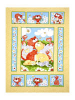Susybee Purrl the Cat Panel Multi