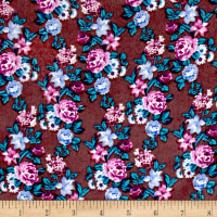 Blousewear Crepe Georgette Ditzy Small Brown/Blue