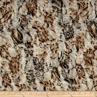 Stretch Lace Animal Skin Dark Taupe