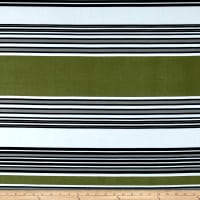 Stretch ITY Jersey Knit Emma Stripe Olive