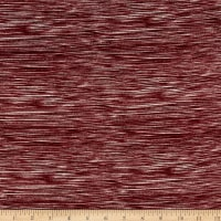 Double Brushed Poly Spandex Jersey Knit Milana Burgundy White