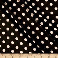 Stretch ITY Jersey Knit Dot Black/Taupe