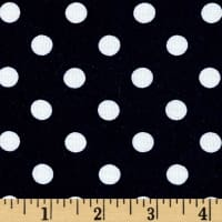 Rayon Challis Small Dots Navy White
